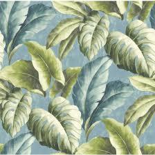 Bolcom Botanical Bladeren Groenblauw Behang Vliesbehang Blauw