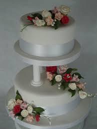 2 Tier Pillars Cake Wedding Cakes Cakeology