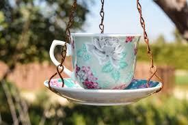 vintage flower cup decoration spring green ceramic garden lighting decorative porcelain