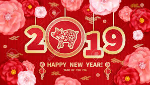 Wish friends and family wealth and good fortune with these 8 chinese new year greetings. Pig Is A Symbol Of The 2019 Chinese New Year Greeting Card In Royalty Free Cliparts Vectors And Stock Illustration Image 105038445