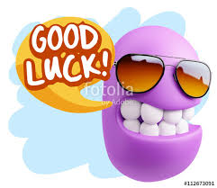 Image result for cartoon character saying good luck
