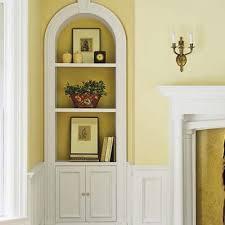 bookshelves built in niche decor