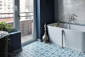 bathroom turkish bathroom interior theme vintage fl pattern of floor in white and blue combination black and