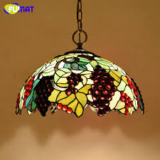 fumat stained glass tiffany lamp european style art glass dragonfly lampshade pendant lights living room hotel bar kitchen light fixtures ceiling lamp shade
