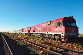 traveling on the ghan from darwin to adelaide australia