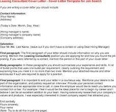 Leasing Consultant Cover Letter Sarahepps Com