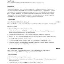 Warehouse Management Resume Sample New Outstanding Warehouse
