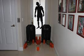 Scary Halloween Decorations Ideas Stenciled Pumpkins White Door Frames  Monster Craft Main Page