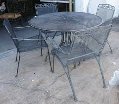 vintage iron patio furniture. Collection In Vintage Metal Patio Table And Chairs Furniture  Andifurniture Vintage Iron Patio Furniture