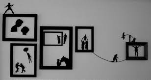 wonderful ideas silhouette wall art small home remodel diy thinkings diy stickers bird black bicycle