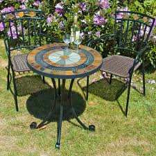 black wrought iron outdoor furniture. Marvelous Furniture For Outdoor Living Space With Mosaic Table : Epic Picture Of Black Wrought Iron T