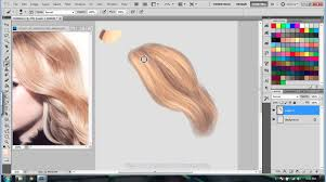 easy hair tutorial digital painting in photo