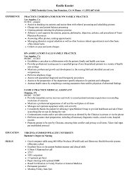 Family Practice Resume Samples Velvet Jobs