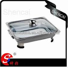 china stainless steel retangle cafeteria serving tray with glass lid