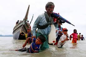 Image result for زنجیرهایها برای تطهیر «سوچی»، قاتل مسلمانان میانمار به خط شدند