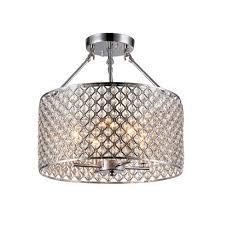 kirsten 4 light chrome indoor crystal semi flush mount light
