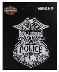 harley davidson police bar shield embroidered patch em1263882