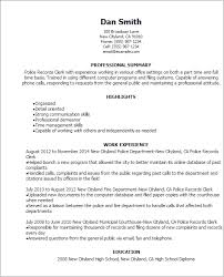 File Clerk Resume Template Unique Police Records Clerk Resume Template Best Design Tips