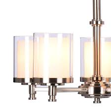 hampton bay burbank 5 light brushed nickel chandelier return com