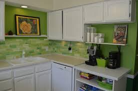 Kitchen Design Green Glass Tile Backsplash Green Mosaic Tile