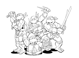 Kids Ninja Turtles Free Superhero Coloring