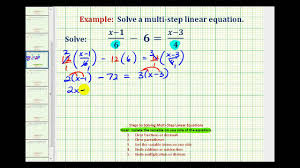 ex 2 solve an equation with fractions with variable terms on both sides