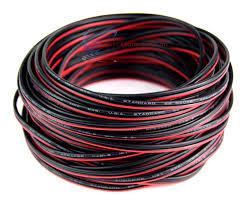 22 gauge 50 039 speaker wire audiopipe red black zip cable 22 gauge 50 speaker wire audiopipe red black zip cable copper clad 12 volt