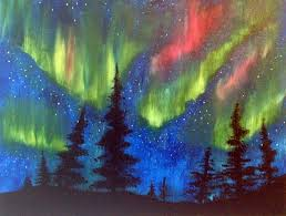 northern lights painting northern lights painting by creatively uncorked