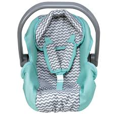 """Zig Zag Car Seat Carrier -Removable Seat Cover - Fits Doll up to 20"""""""