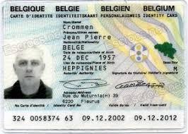 Identification be-ic-001 Belgium Card Belgium Col Functional Card Identity Card personal belgium