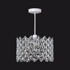 easy lighting. 8112 Easy Fit Crystal Ceiling Pendant Light Lighting E