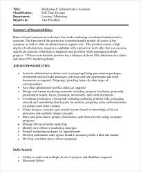 Job Description Marketing Assistant Coordinator Resume Photo 791 ...