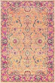 bright flower rugs fl red area camp pink rug solid colored brightly runner