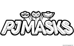 Beautiful pj masks coloring page to print and color. Pj Masks Logo Logodix