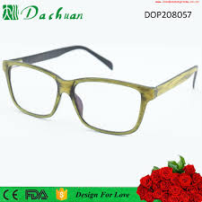 direct factory good quality cp injection fake acetate old fashion eyewear frames with wooden brushed