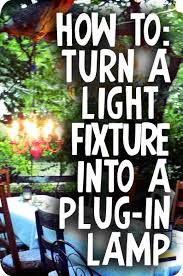 DIY: How to Turn a Chandelier (or any light fixture) Into a Plug