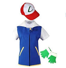 pokemon go ash ketchum trainer costume cosplay shirt jacket outfit new
