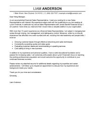 Writing A Professional Cover Letter 2 Sales Representative Example