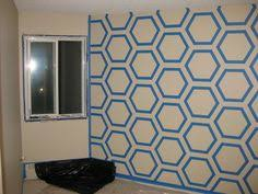 Small Picture Painted Herringbone Accent Wall with ScotchBlue Painters Tape