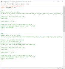 pandas dataframe from a csv file