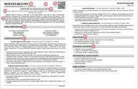 The Anatomy Of A Modern Resume Example Best Professional Resume
