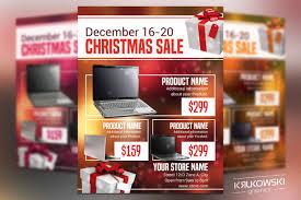 christmas flyer template flyer templates on creative market