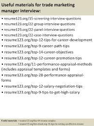 Marketing Manager Resume Objective Gorgeous Top 48 Trade Marketing Manager Resume Samples