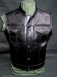 jeans horsehide leather motorcycle vest harley davidson