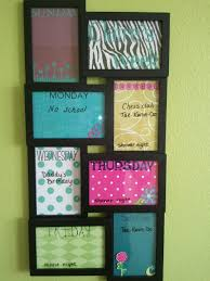 Weekly Calendar Designed Each Frame With Scrapbook Supplies