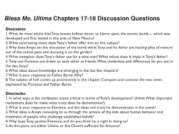 com bless me ultima here are your bless me ultima chapters 17 18 dicussion questions