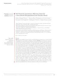 Pdf Fetal Biometric Parameters Reference Charts For A Non