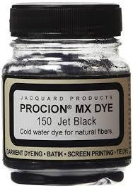 Jacquard Procion Mx Fiber Reactive Dye 2 3rd Ounce Jar Jet Black