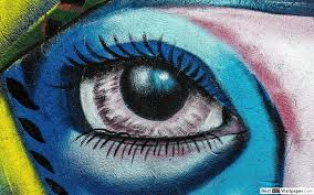 Graffiti Artistic Blue Eyes Hd Wallpaper Download