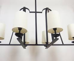 wrought iron ceiling lamp 1950s for